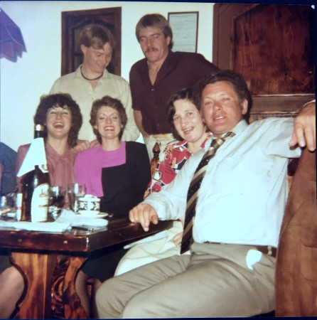 From left - Annie, John, Jane, Kent, Bev and Heaton